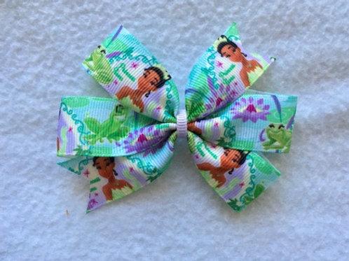 Princess Tiana Mini Pinwheel Bow
