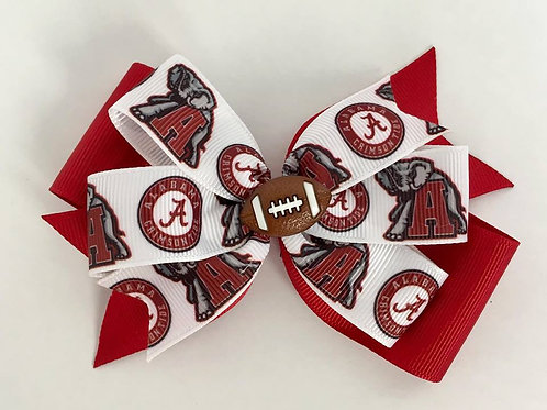 Alabama Crimson Tide double pinwheel bow