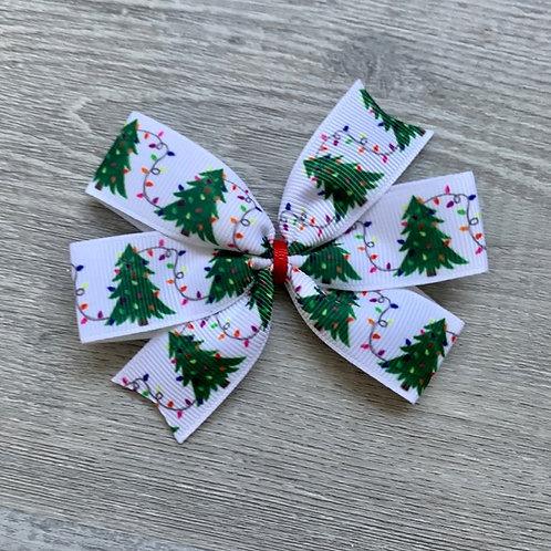 Christmas Tree mini pinwheel bow