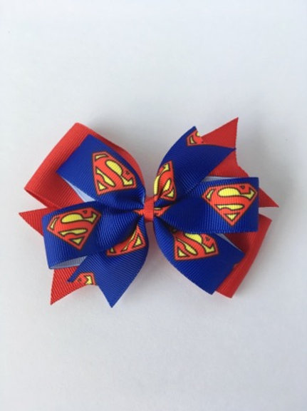 Superman Double Pinwheel Bow