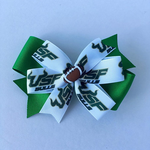 University of South Florida Bulls double pinwheel bow