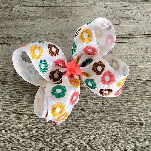 Donuts Loopy Bow