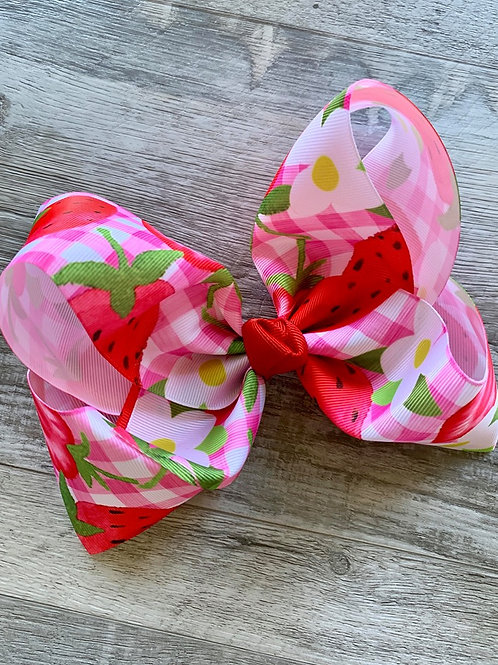 Strawberries Texas Size Loopy Bow