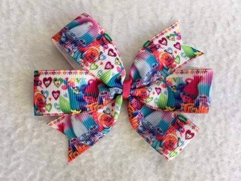 Trolls mini pinwheel bow