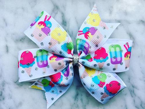 Ice Cream Mini Pinwheel Bow