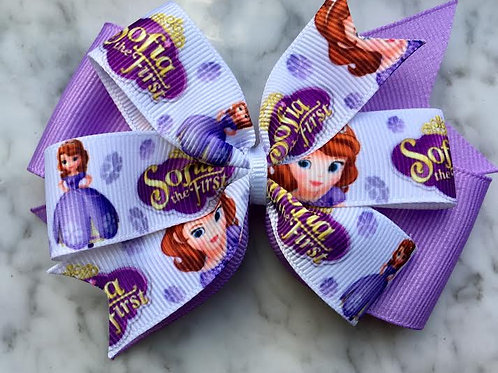 Sofia the First Double Pinwheel Bow