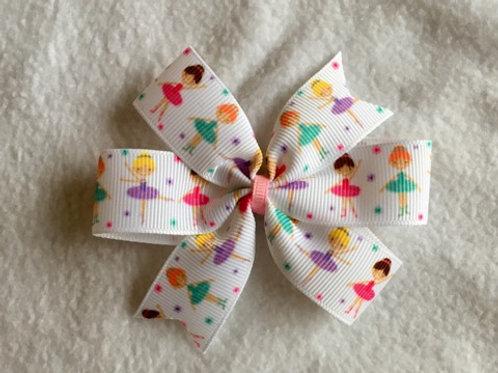 Ballerinas mini pinwheel bow
