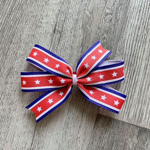 Stars & Stripes Mini Pinwheel Bow