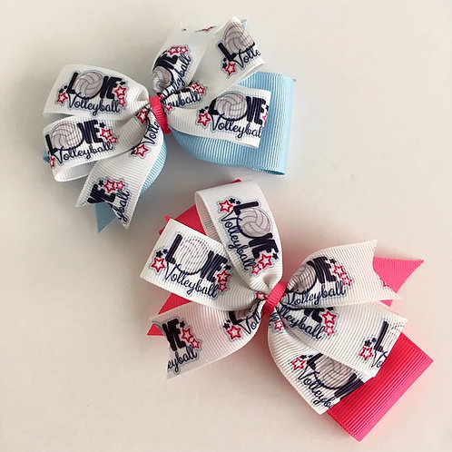 Volleyball double pinwheel bow