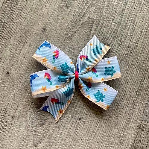 Ocean Friends Mini Pinwheel Bow