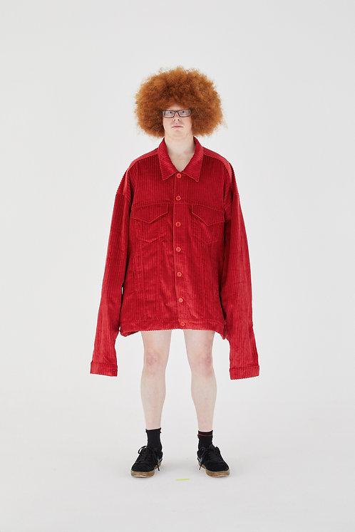 OLOAPITREPS JUMBO COAT CHERRY RED