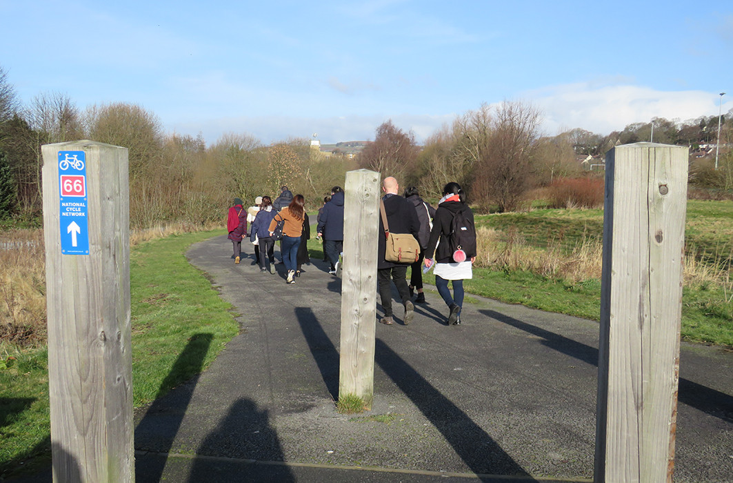 Recce of the corridor's existing cycle path