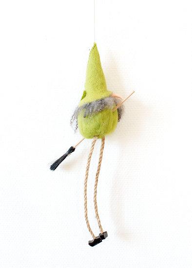 Flygande Påskkärring Grön