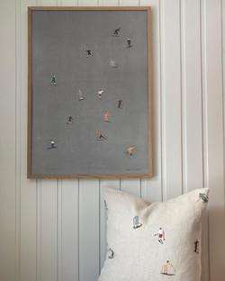 Affisch med skidåkare