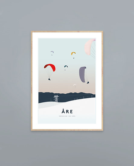 Poster Skärmflygare Åre
