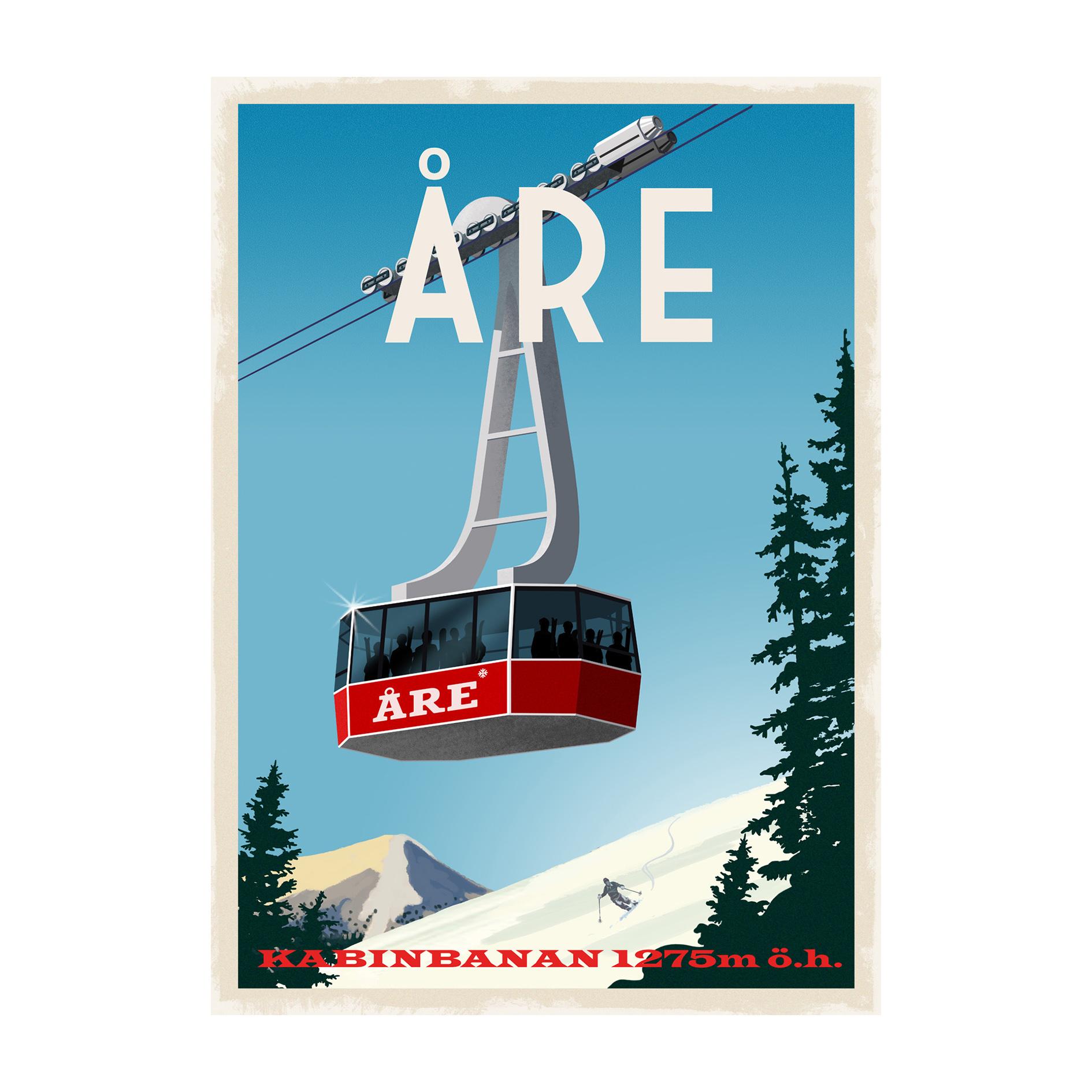 Poster med Åre kabinbana