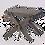 Thumbnail: Grått bord/pall i furu