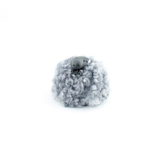 Får grå kort päls