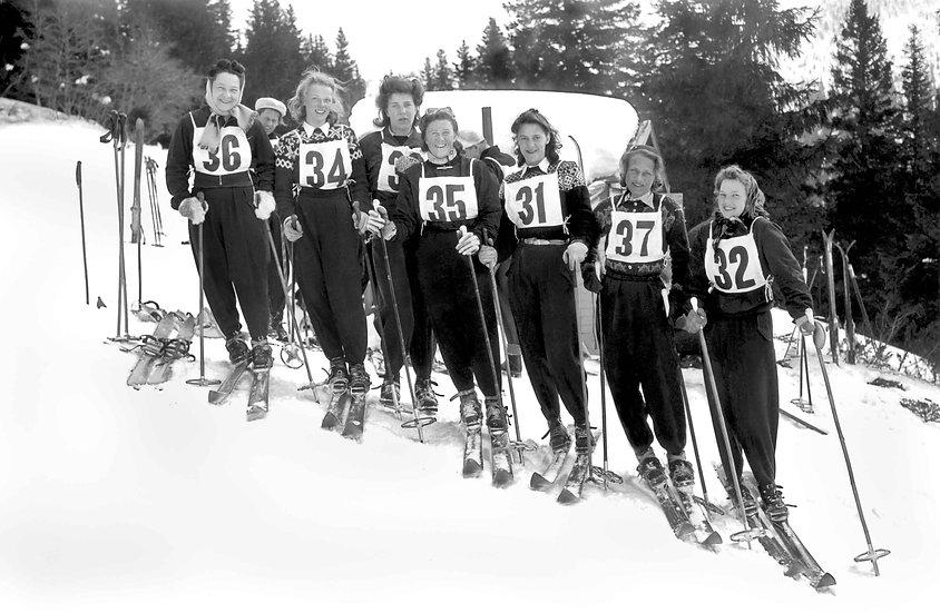 """Kort med kuvert """"Damerna i Åre slalomklubb"""""""