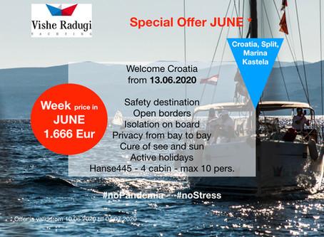 JUNE sailing WEEK just for 1.666 EUR