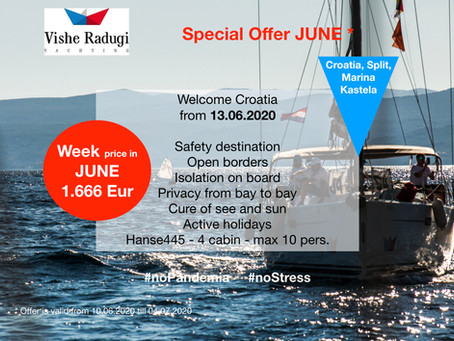 JUNE sailing WEEK just for 1.666 EUR