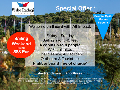 Sailing Weekend just for 888 EUR