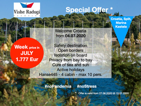 JULY sailing WEEK just for 1.777 EUR