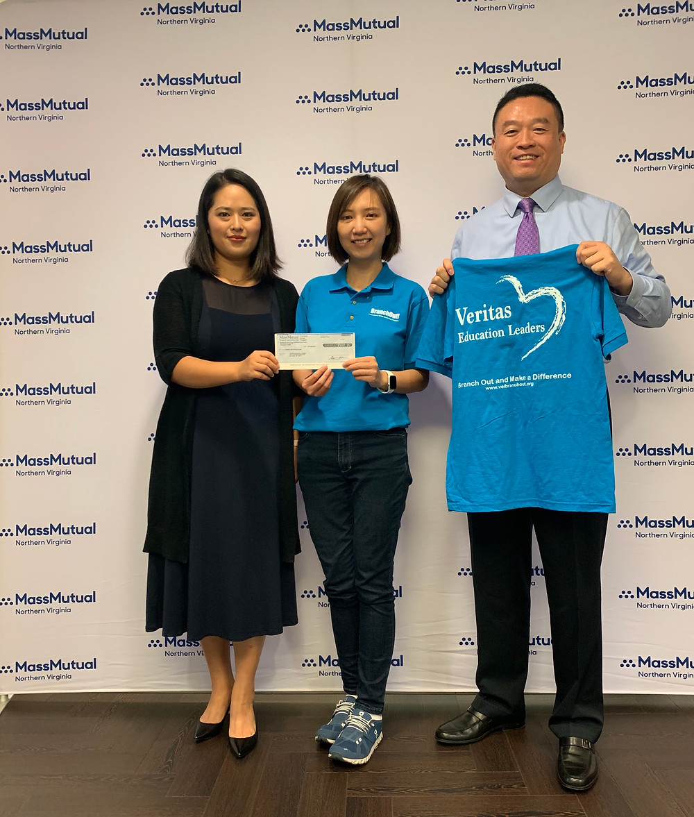 Simon Zheng, Angeline Zheng Agency Managing Partner from MassMutual and Dr. Yuhsien Wu, Co-Founder of BranchOut! Veritas Education Leaders