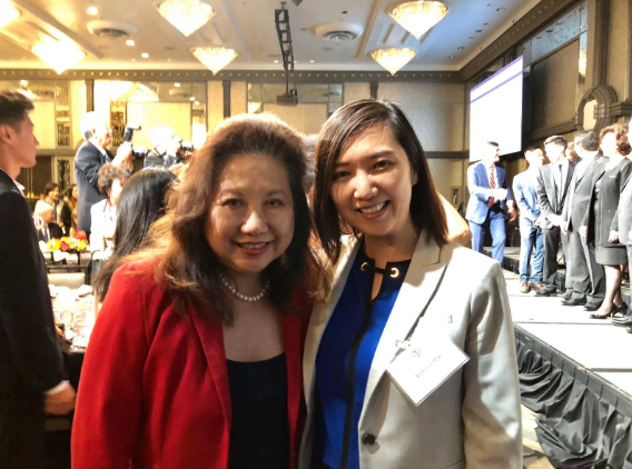 Dr. Wu with Senator Susan Lee, a strong supporter of BranchOut!