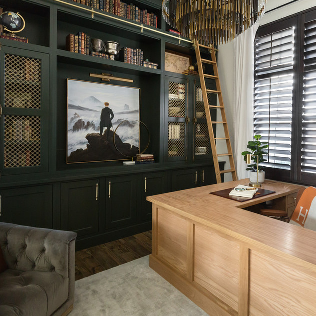Upscale Office + Family Room