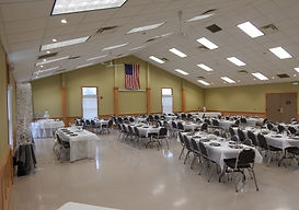 Community Hall with tables
