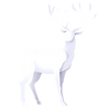 white shadowed reindeer