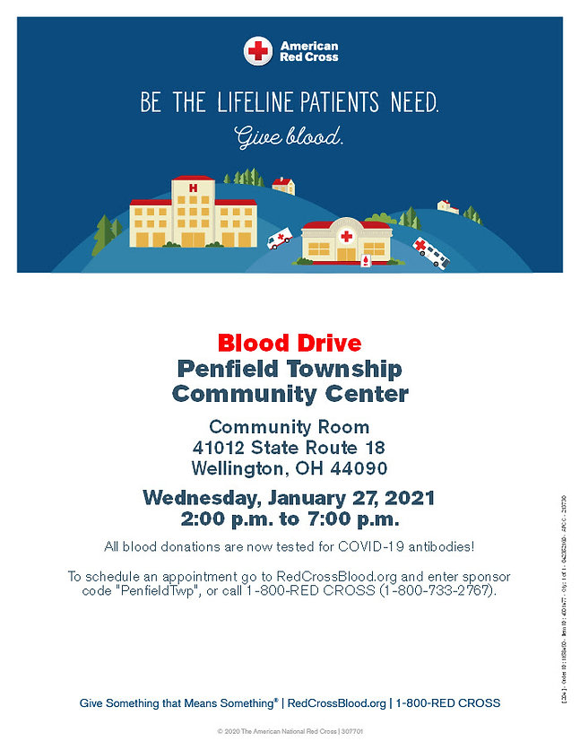 Penfield Blood Drive flyer
