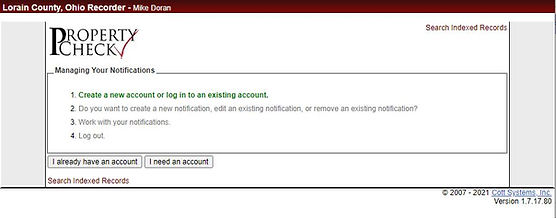 Screen capture of Property Check external website