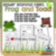 Frog and Toad, reader response pages, teaching resources, writing about books, beginner readers, days with frog and toad, frog and toad are friends, frog and toad all year