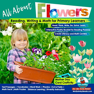 all about flowers- teaching resources