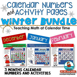 Calendar Math Winter Bundle