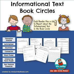 Informational Book Circles, MrsQuimbyReads, Teaching Resources, literacy instruction, lesson plans, reading