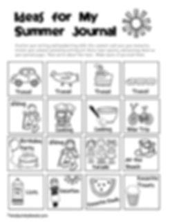 summer journal-topics