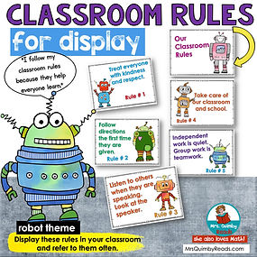 Class Rules Posters- robot theme