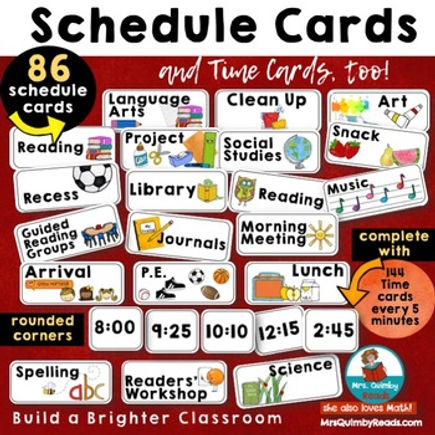 schedule cards