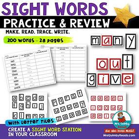 sight words - literacy