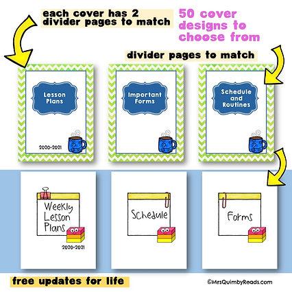 teacher binder - covers