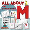 learning the alphabet - letter M