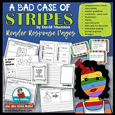 bad case of stripes, david shannon, children's literature, teaching resources