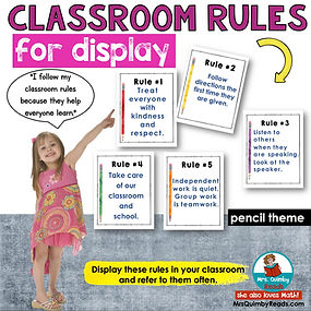 Classroom rules-posters-pencil