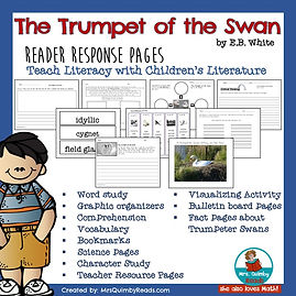 trumpet of the swan, reader response pages, teaching resources, children's literature