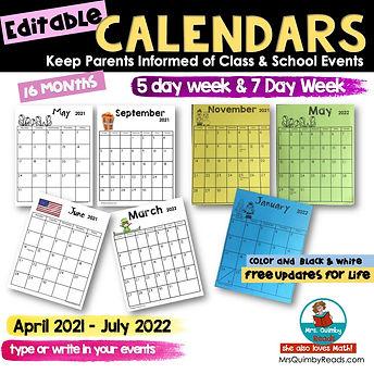 calendars for parents
