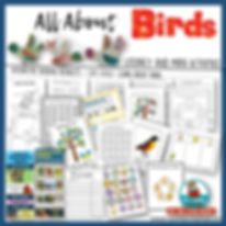 all about birds for children, learn about the features of birds, teaching resources, math activities with science learning, life cycle of a bird