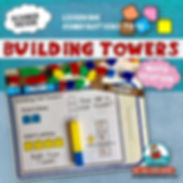 learning to add, unifix cube math station, building towers, primary grades, math lessons